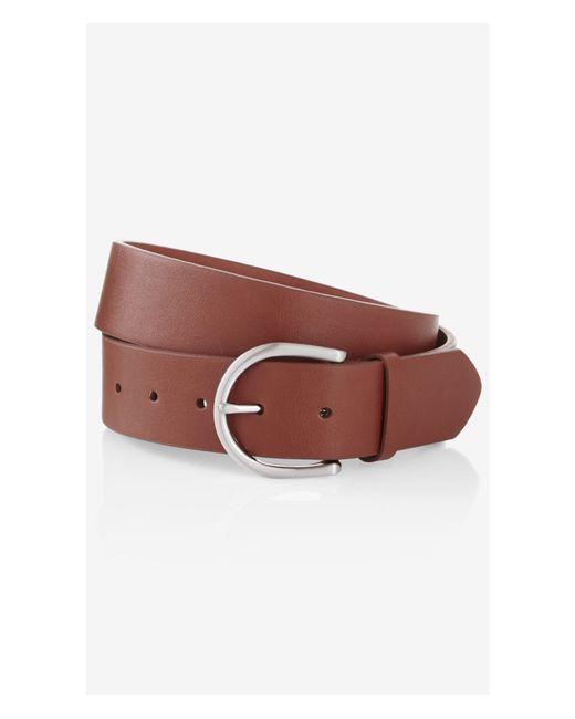 Express | Brown Oval Buckle Jean Belt | Lyst