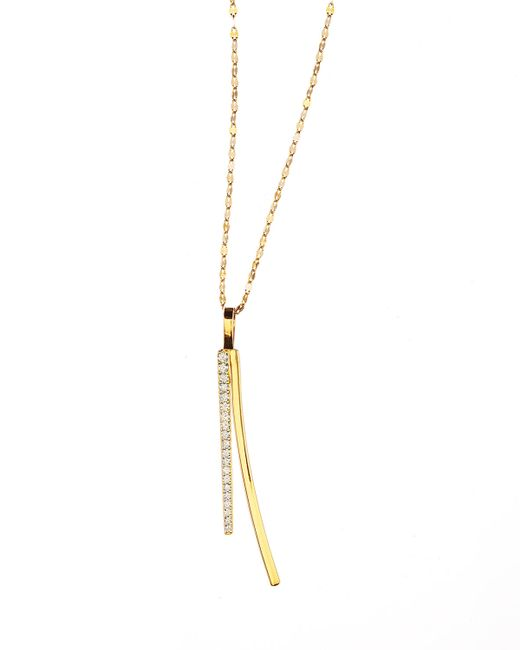 Lana Jewelry | Yellow 14k Electric Bar Diamond Reflector Necklace | Lyst