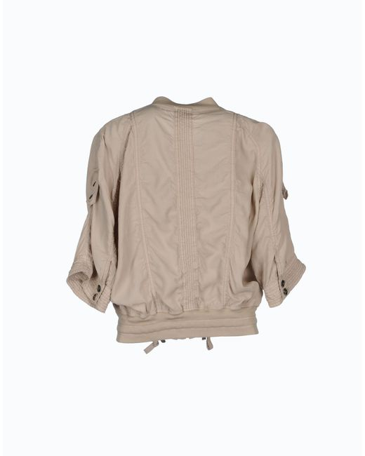 marc cain jacket in beige save 60 lyst. Black Bedroom Furniture Sets. Home Design Ideas