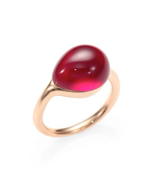 Pomellato | Pink Rouge Passion Cabochon Ring | Lyst