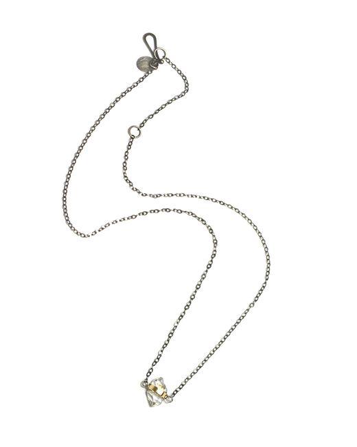 Melissa Joy Manning | Metallic Bezel Wrapped Herkimer Diamond Necklace | Lyst