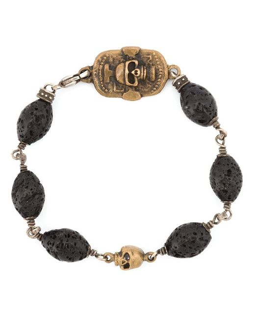 Roman Paul | Black Skull Motif Beaded Bracelet for Men | Lyst