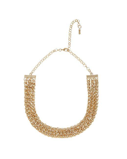 Hobbs   Metallic Bess Collar Necklace   Lyst
