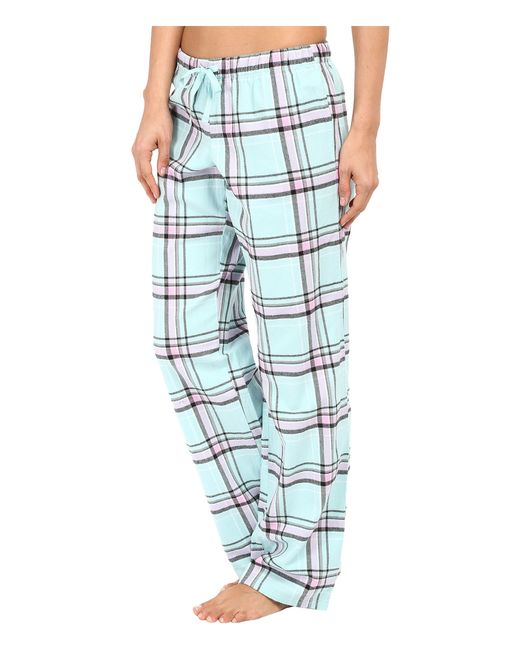 Unique Women39S Red Plaid Flannel PajamaLounge Pants Large Red Green Blue