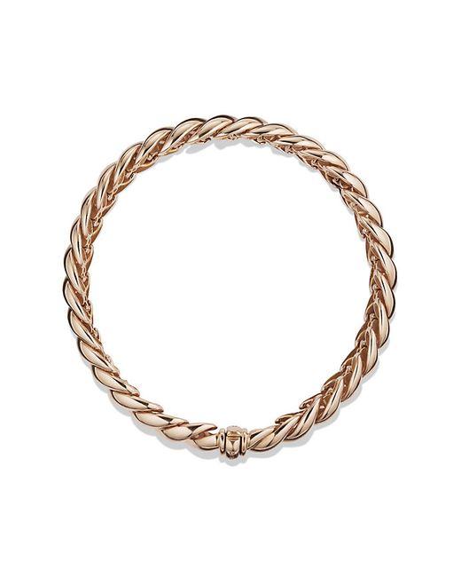 David Yurman | Pink Hampton Cable Bracelet In Rose Gold | Lyst