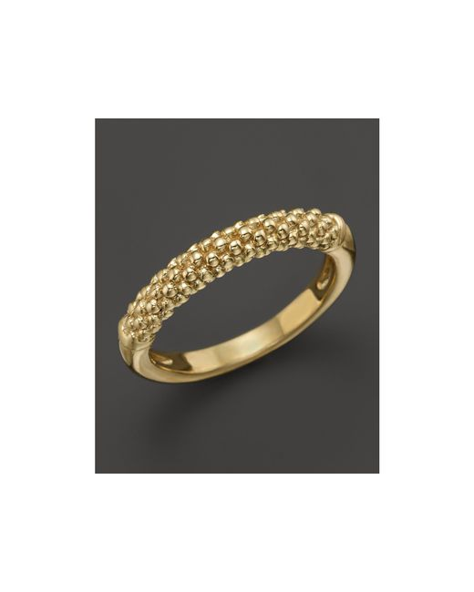 Lagos | Metallic 18k Gold Beaded Ring | Lyst