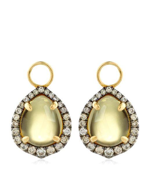 Annoushka | Yellow Olive Quartz Earring Drops | Lyst