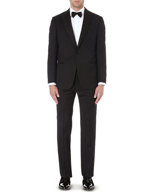 armani formal wool tuxedo in black for men lyst