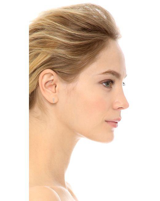 Shashi   Metallic Bar Earrings   Lyst