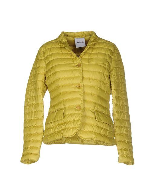Aspesi | Green Down Jacket | Lyst