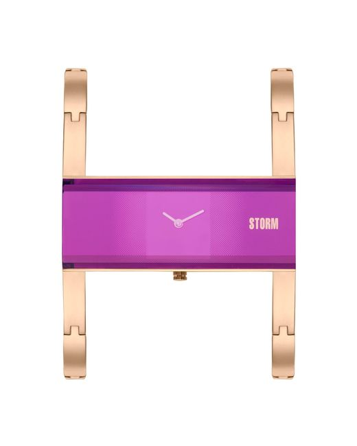 Storm - Multicolor Ladies Purple Akiko Metal Strap Watch Akiko Rg Purple - Lyst