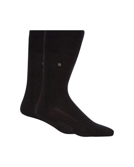 Levi's - Pack Of Two Plain Black Socks for Men - Lyst