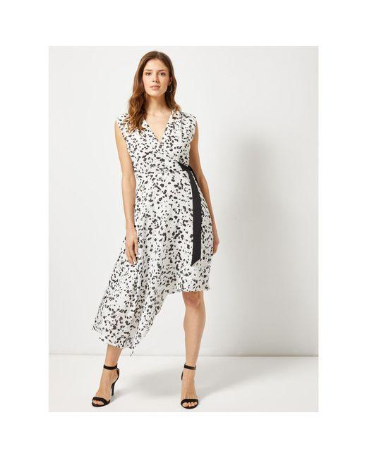 Dorothy Perkins - Lily & Franc White Animal Print Wrap Dress - Lyst