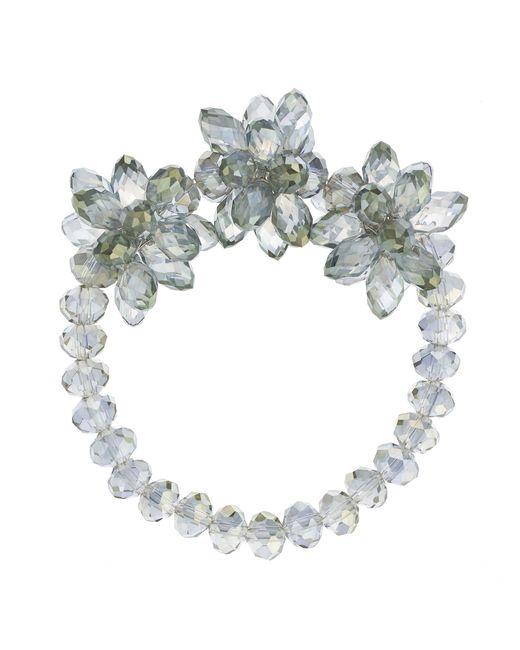 J By Jasper Conran - Green Designer Beaded Flower Bracelet - Lyst