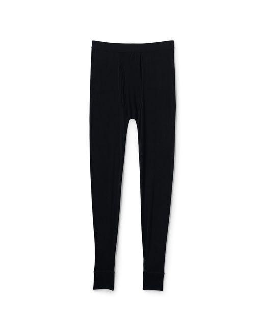 Lands' End - Black Silk Thermal Long Johns Underwear for Men - Lyst