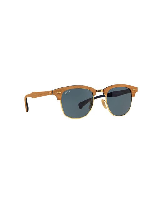 19f2605a54 ... france ray ban brown clubmaster wood rb3016m sunglasses for men e85c1  6aed5