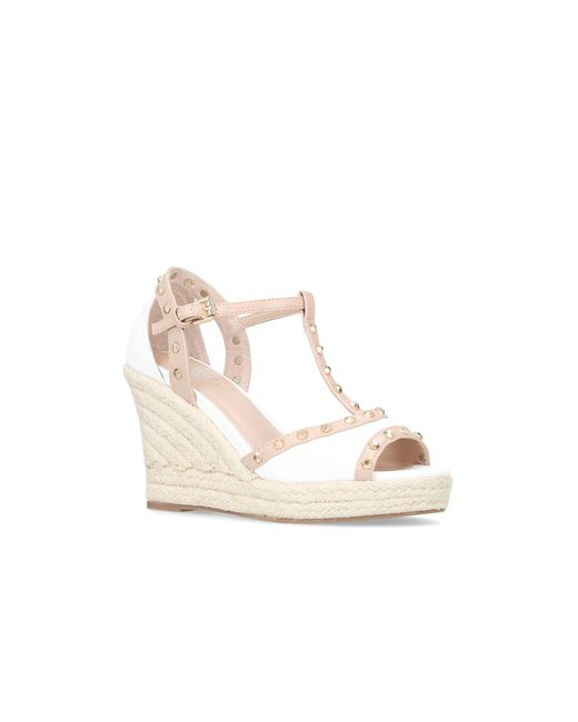 878094b114 Carvela Kurt Geiger White 'stark' High Heel Wedge Sandals in White ...