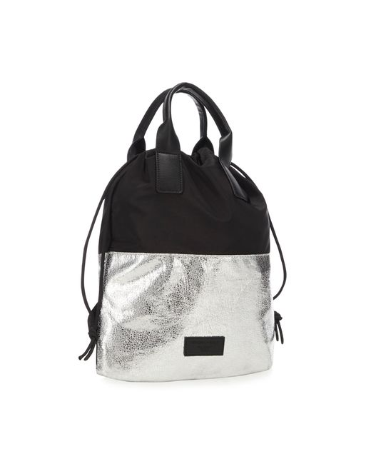 5357957cce6b Kendall + Kylie - Metallic Silver  layla  Mini Backpack - Lyst ...