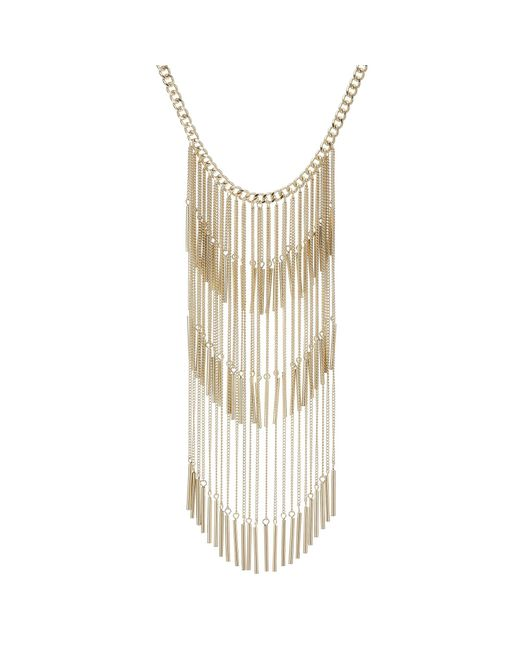 Red Herring - Metallic Gold Tassel Statement Long Necklace - Lyst