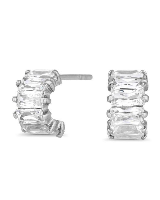 J By Jasper Conran - Metallic Designer Sterling Silver Half Hoop Earrings - Lyst