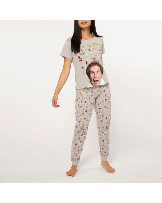 3a7d88efcd Dorothy Perkins - Gray Petite Grey Elf Pyjama Set - Lyst ...
