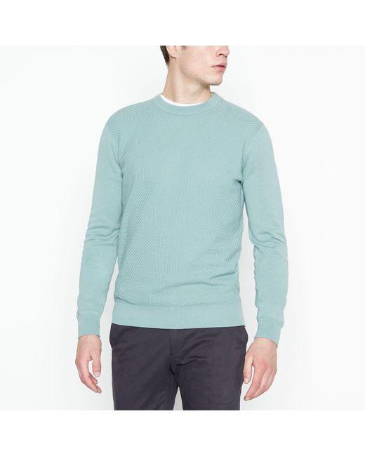 Ben Sherman Green Textured Knit Jumper for men