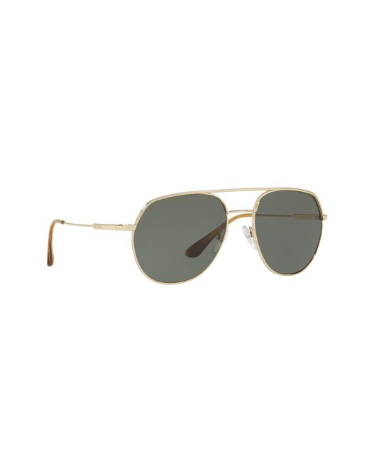 db96b4defc9 Prada - Metallic Gold 0pr 55us Irregular Sunglasses for Men - Lyst ...