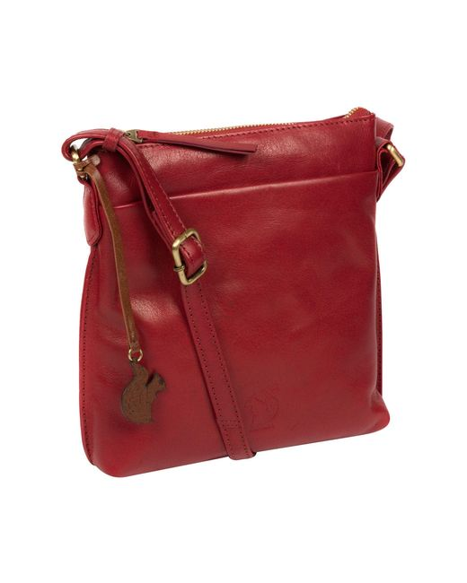 Conkca London Red Chilli Pepper 'nikita' Leather Cross-body Bag