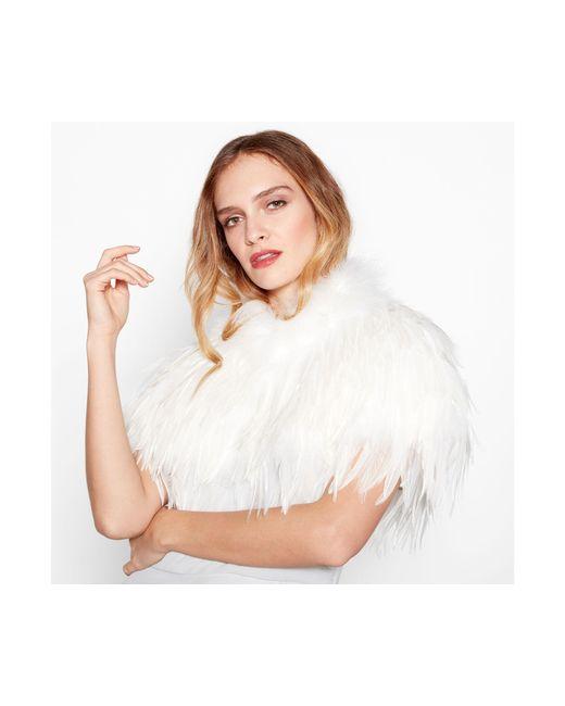 Jenny Packham - White Ivory Feather Shrug - Lyst