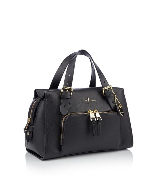 J By Jasper Conran Black Faux Leather 'holland Park' Grab Bag