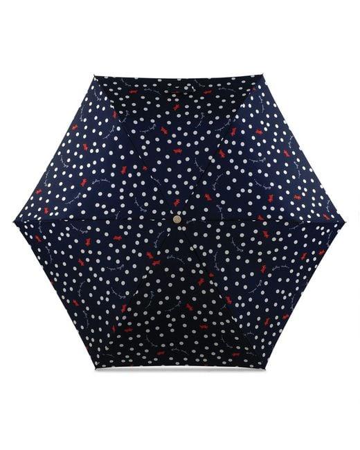Radley - Blue Navy Printed 'vintage Dog Dot' Mini Telescopic Umbrella - Lyst