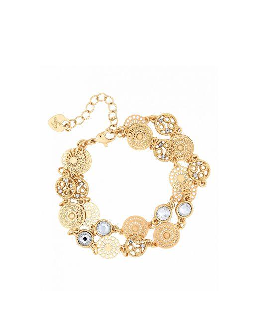 Lipsy Metallic Filagree 2 Row Bracelet