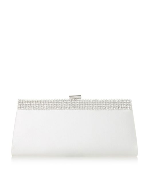 Roland Cartier - White Belrie' Diamante Trim Clutch Bag - Lyst