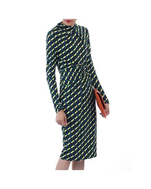 Jolie Moi Green Twist Body Con Dress