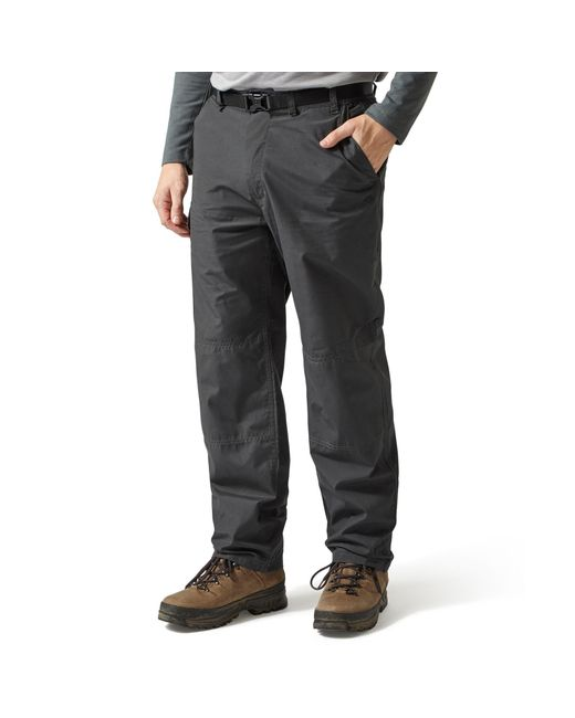 Craghoppers Gray Black Pepper Classic Kiwi Trousers for men