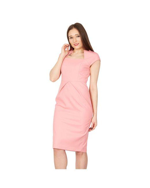 Jolie Moi Pink Fold Detail Bodycon Dress