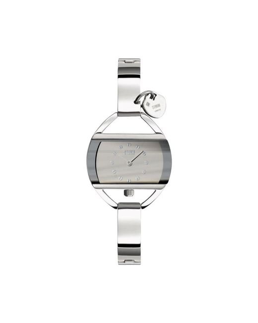 Storm - Metallic Ladies Silver Rectangular Dial Watch Temp Charm Silv - Lyst