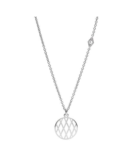 Fossil - Metallic Silver 'vintage Iconic' Pendant Necklace - Lyst