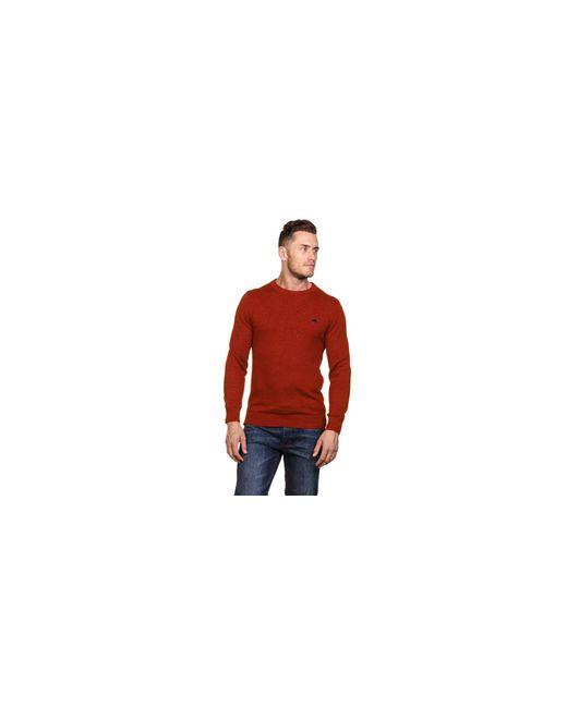 73f926ab0d3c32 ... Raging Bull - Orange Crew Neck Cotton Cashmere Sweater for Men - Lyst