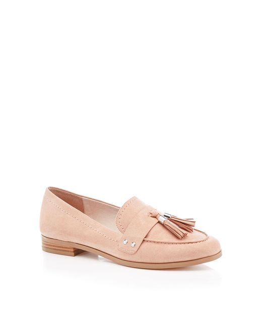 0ff7b7771 Faith Suedette Tassel 'amore' Flat Loafers in Natural - Lyst