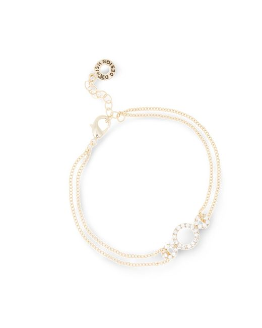 Pilgrim - Metallic Gold Plated Crystal Bracelet - Lyst