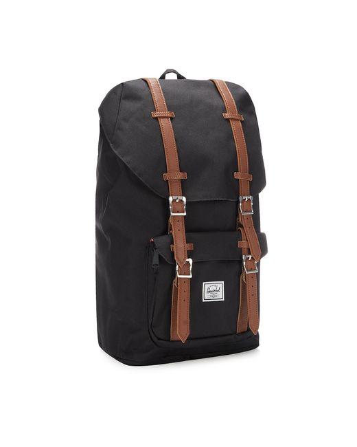 Herschel Supply Co. Black Canvas 'little America' Backpack for men