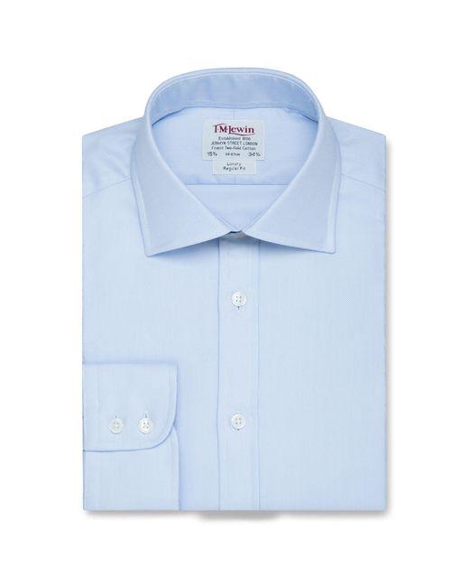 Tm Lewin - Regular Fit Blue Oxford Button Cuff Regular Sleeve Length Shirt for Men - Lyst