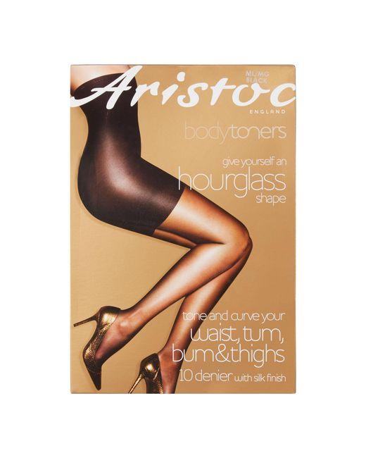 40703e17c4d Aristoc Black 10 Denier Hourglass Tights in Black - Lyst