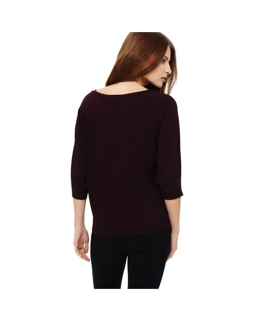01c64473bde Phase Eight Cristine Batwing Knit Jumper in Red - Lyst