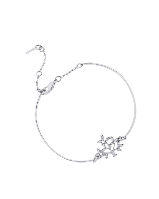 Pilgrim - Metallic Silver Plated Crystal Tree Bracelet - Lyst