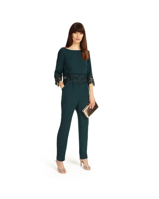 Phase Eight - Ever Green Fiamma Lace Jumpsuit - Lyst