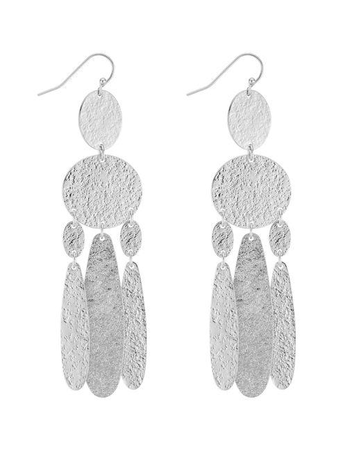 J By Jasper Conran - Metallic Designer Textured Chandelier Earrings - Lyst