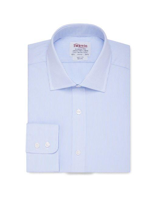 Tm Lewin - Slim Fit Light Blue Bengal Stripe Long Sleeve Length Shirt for Men - Lyst