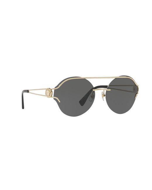 59938ec18886 Versace - Metallic Gold Ve2184 Round Sunglasses - Lyst ...